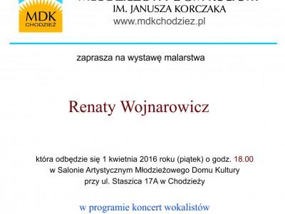 Zapraszamy na wystawę malarstwa Renaty Wojnarowicz