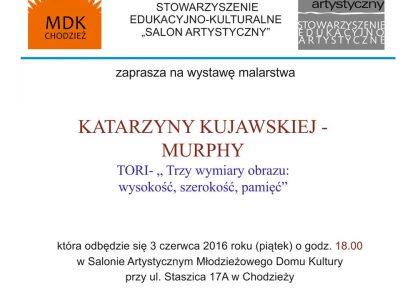 Zapraszamy na wystawę malarstwa Katarzyny Kujawskiej-Murphy.