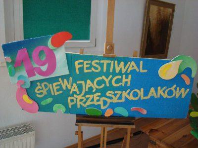 Informacja końcowa z przebiegu Finału XIX Festiwalu Śpiewających Przedszkolaków.