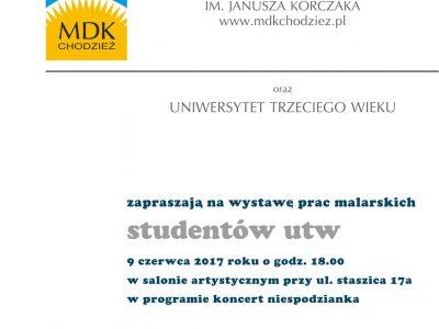 Wystawa prac malarskich studentów UTW
