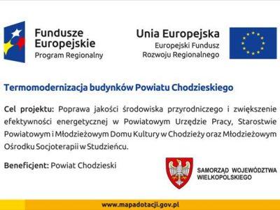 Termomodernizacja budynków Powiatu Chodzieskiego.