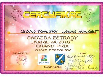 Znakomite występy i sukcesy Oliwii Tomczyk i Laury Mandelt
