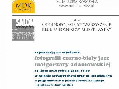 Wystawa fotografii Małgorzaty Adamowskiej.