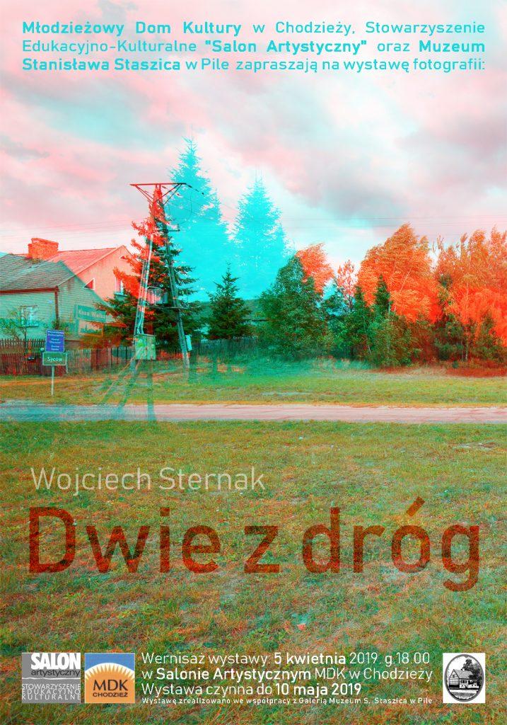 Dwie z Drog - plakat Wojciech Sternak - z cyklu Siedem Drog