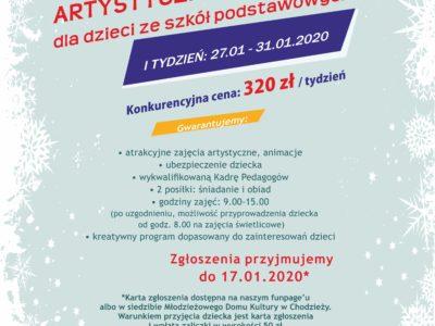 ARTYSTYCZNE FERIE 2020!